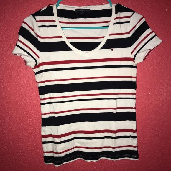 Tommy Hilfiger Tops - Tommy Hilfiger v-neck stripe shirt